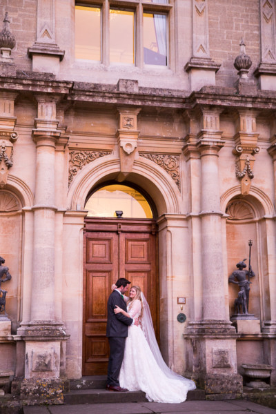 Orchardleigh House wedding portrait