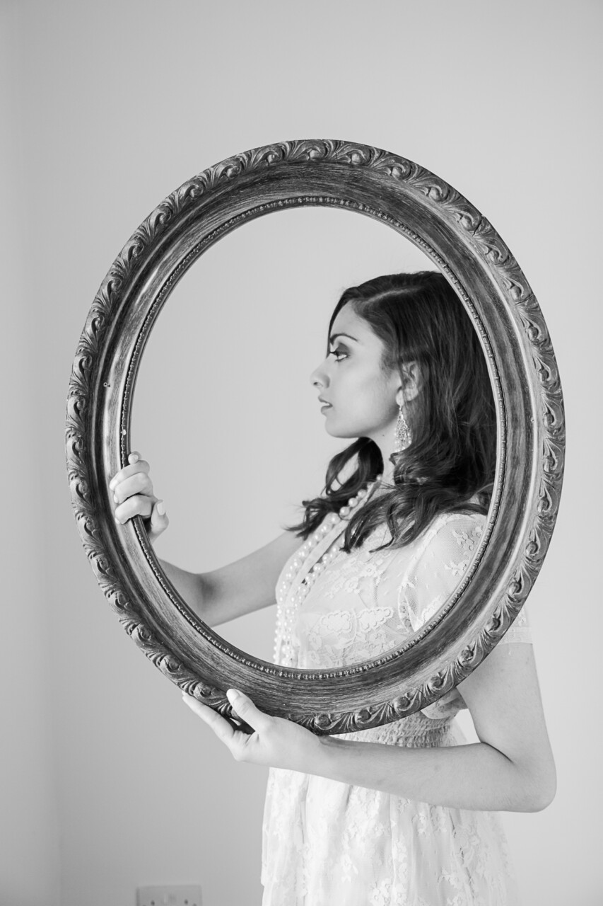 classic standing framed portrait