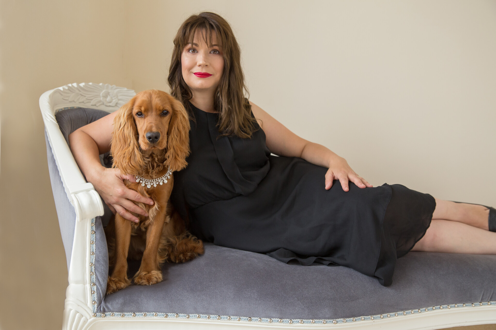 glamorous portraits with your pet, Bristol photography studio